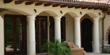 Cast stone columns by American Stonecast