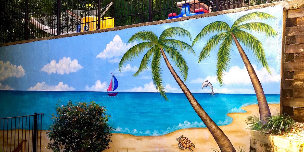 Atlanta Custom Hand-painted Wall Murals-Outdoor Beach Theme Mural