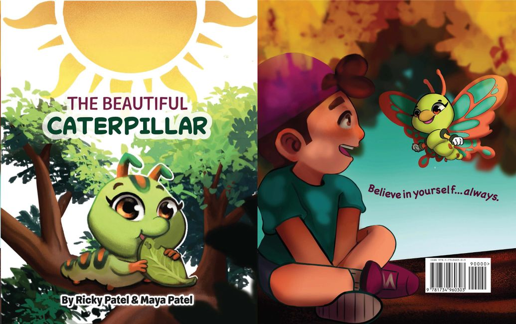 The Beautiful Caterpillar book by; Ricky Patel & Maya Patel.