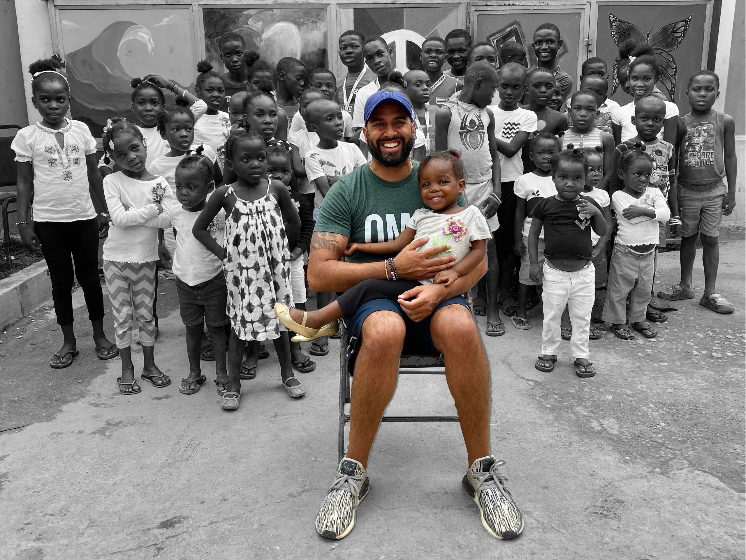 Ricky Patel, Haiti orphanage.  Gracious Hands Orphanage.