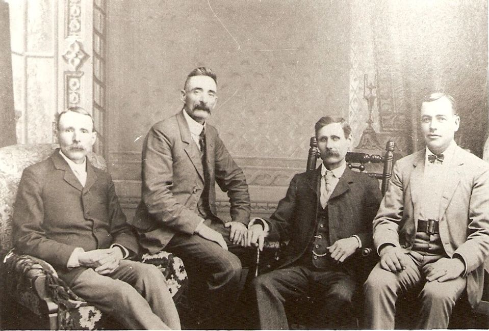 Comber Tilbury West Town Council 1902 Left to Right - F.F. Jones, S. T. Anderson, David.Voakes, H. B