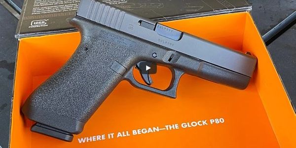 GLOCK P80 IS A HISTORICAL REPRODUCTION OF THE ORIGINAL INNOVATIVE GLOCK PISTOL ADOPTED