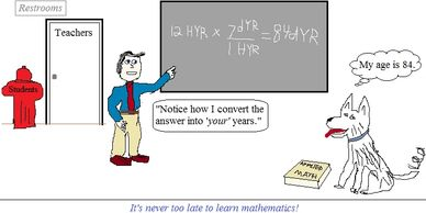 "Math Comic #30 - ""Teaching an old dog new tricks"""