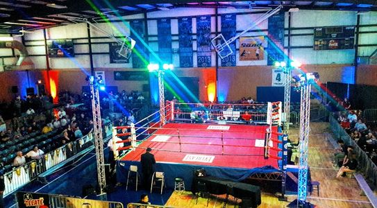 Lighting and sound for Underwood Productions boxing event by Interactive Entertainment Systems