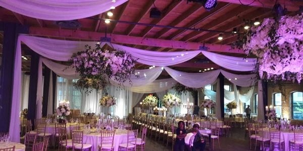 Wedding lighting at Brazos Hall, Austin, TX by Interactive Entertainment Systems