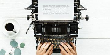 FAQs, typewriter