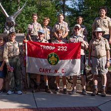 Troop 232 at Camp Durant Summer Camp this year