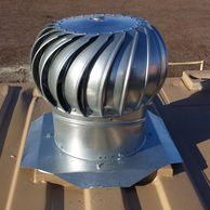 Whirly bird ventilation on a mobile shipping container conex storage