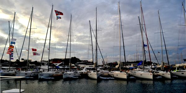 Sailboats in a Marina in the BVI