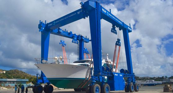 350 Tonne Cimolai Boat Lift in North Boatyard at Virgin Gorda Yacht Harbour