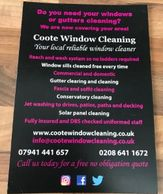 Coote window cleaning Sutton