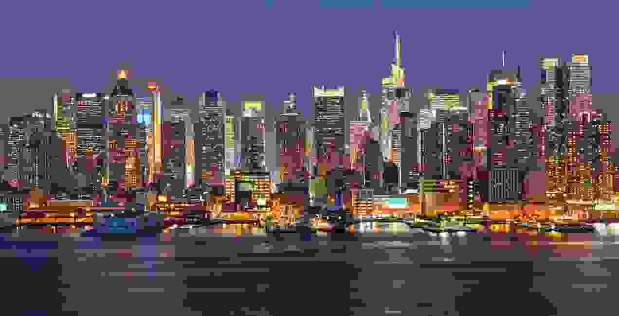 NYC skyline - Manhttan at night