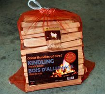 Bags of softwood kindling