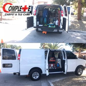 Complete Carpet and Tile Care's truck-mounted Steam Cleaning System! We offer a premium cleaning!