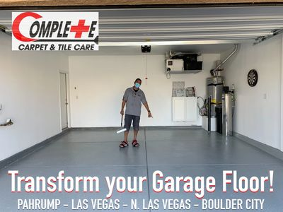Garage Epoxy Installation in Las Vegas and Surrounding areas.