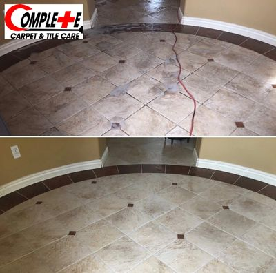 Professional Tile Cleaning in Henderson, NV. Before and After! Wow!