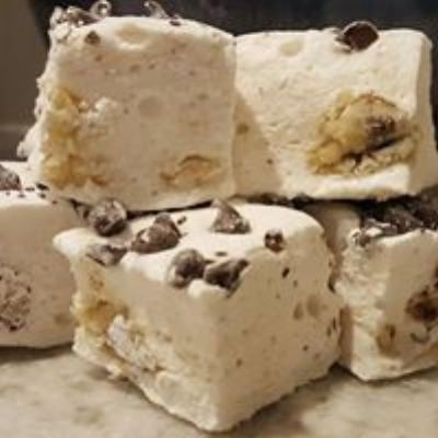 Chocolate chip cookie dough marshmallows.