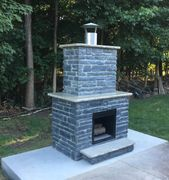 fire place, fire feature, Outdoor living spaces,  decorative concrete contractor, patios, cocrete