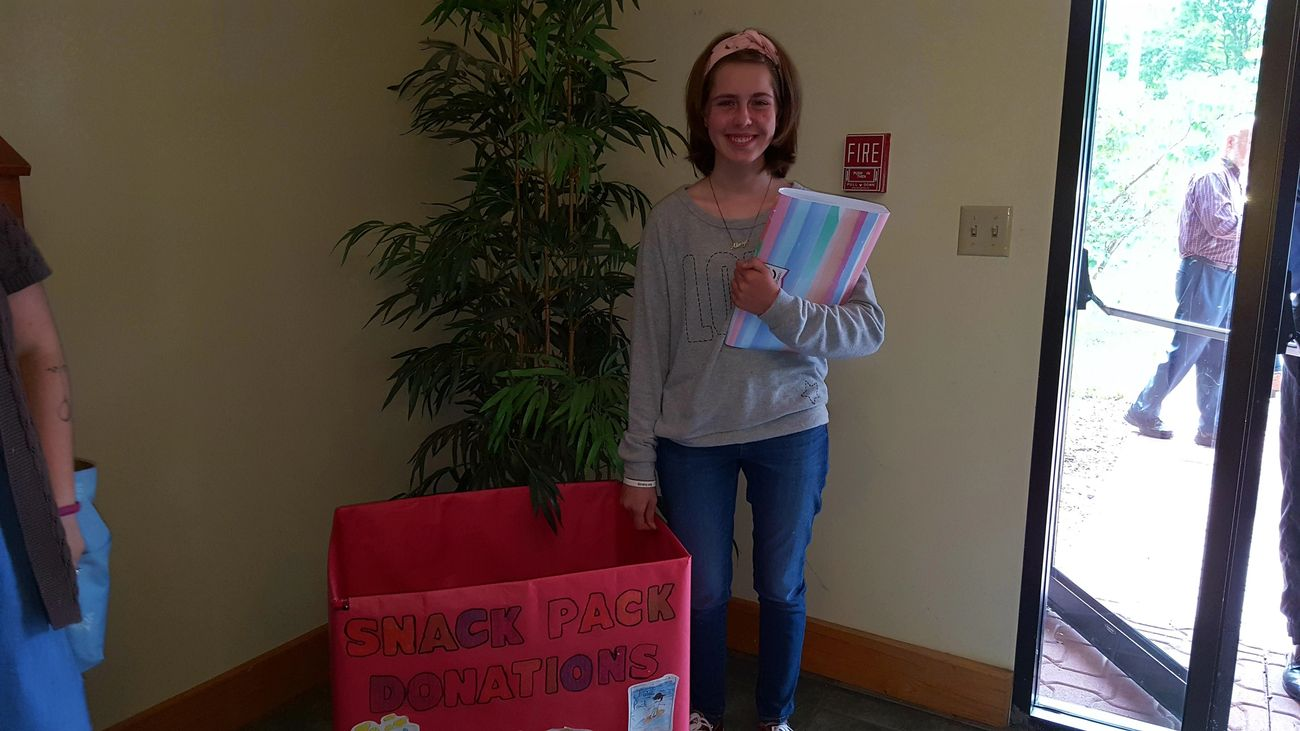 Thanks to Emma for building our donation box!
