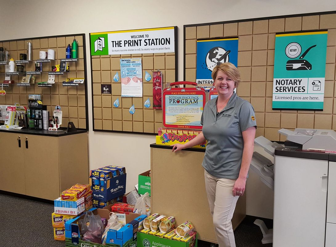 Huge thanks to Janice and the UPS Potsdam team for organizing our major food drive!