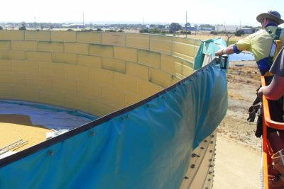 Large Industrial Steel bolted liner Smart Tank in Australia