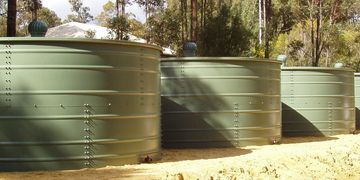 Four Smart Water Tanks installed on an Australian property