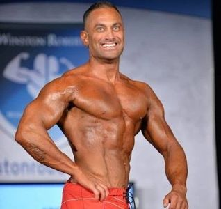 James Hergott on Bodybuilding stage.