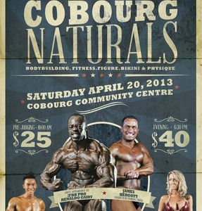 James Hergott on the Poster of the Cobourg Naturals Bodybuilding Show.