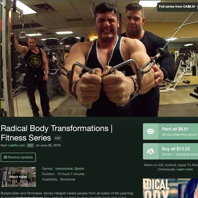 Radical Body Transformations on Vimeo for Video on Demand Worldwide for both streaming and buying