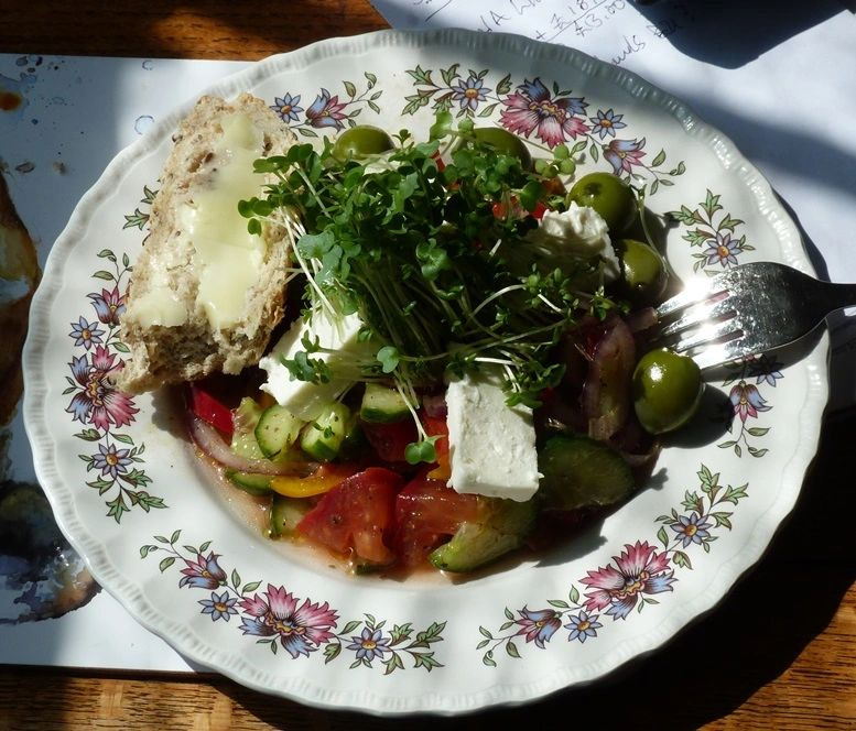 "{""blocks"":[{""key"":""eblhv"",""text"":""Greek salad is one of my favorite dishes, and I learned it first while living on the island of Samos in the Aegean Sea, less than a mile from the Turkish coast."",""type"":""unstyled"",""depth"":0,""inlineStyleRanges"":[],""entityRanges"":[],""data"":{}},{""key"":""cn5ju"",""text"":"""",""type"":""unstyled"",""depth"":0,""inlineStyleRanges"":[],""entityRanges"":[],""data"":{}}],""entityMap"":{}}"