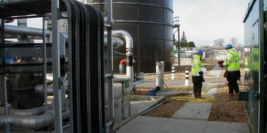 Commissioning of anaerobic digestion biogas plant producing biosolids