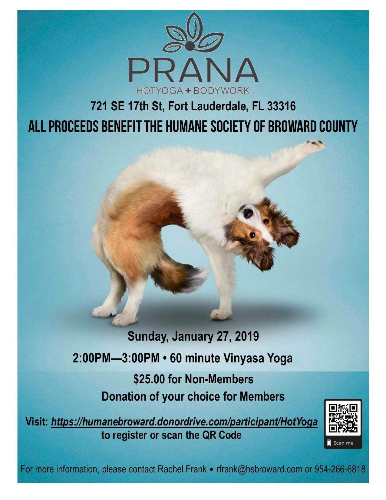 Special Class this Sunday to Benefit our Furry Friends