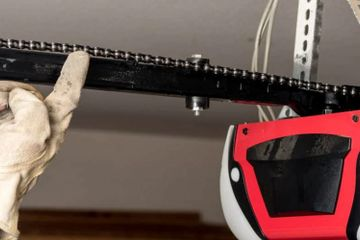 Garage door opener chain