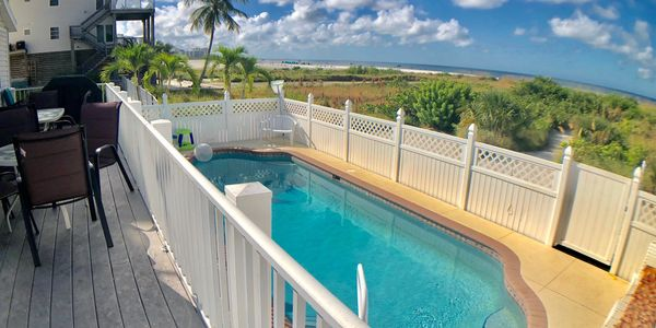 Ft. Myers Beach Luxury Vacation Rental on Beach with Heated Pool