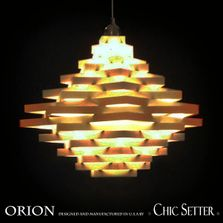 ORION, Light Fixture, Modern Chandelier, Designed & Made in USA by CHIC SETTER