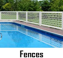 Maintenance Free Pool Fences, Mold & Mildew Resistant-Never Need Painting-Made in USA by CHIC SETTER