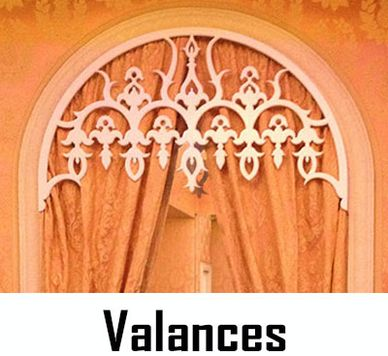 Valances designed for The Colony Hotel of Palm Beach, Florida, by CHIC SETTER