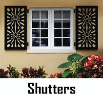 Maintenance Free Custom designed Window Shutters, Grills and Screens, Made in USA by CHIC SETTER