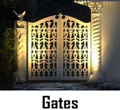 Custom Designed Maintenance Free Garden Gates or Walkway Gate, Made in USA by CHIC SETTER