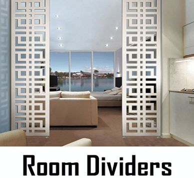 Maintenance Free Room Dividers, Shower Panels, Patio or Balcony Dividers, Made in USA by CHIC SETTER