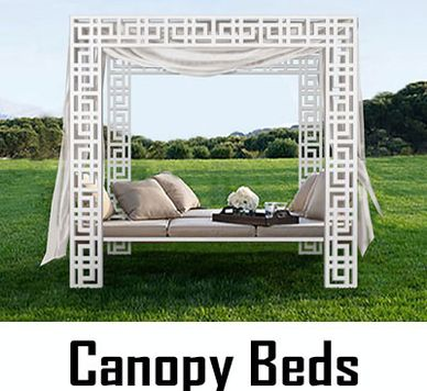 Custom Designed Canopy Bed. Maintenance Free Frame, Made in USA by CHIC SETTER