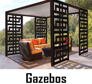 Gazebos, Trellises, Pavilions, Canopy Beds, Patio Screens. Custom Made in USA by CHIC SETTER