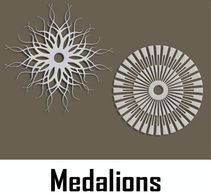 Indoor & Outdoor Wall & Ceiling Medallions, also with LED back lightning, Made in USA by CHIC SETTER
