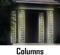 Custom Designed Columns with light for indoor and outdoor. Made of a Maintenance Free Material.