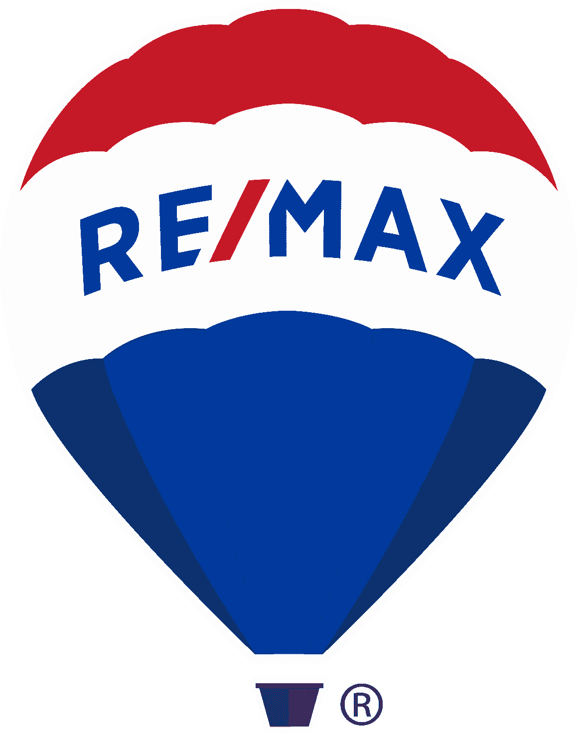 An icon of a hot air balloon signifying the official logo of RE/MAX® headquartered in Colorado.