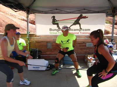 Tandem Bungee® challenge at Fitness on The Rocks.