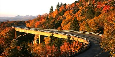 Linn Cove Viaduct the most iconic image of the Blue Ridge Parkway