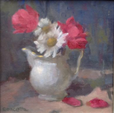 Accepted Monmouth Museum juried art show.  Members Miniatures,  Big Art Small Packages,  8 x 8 oil.