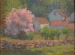 Accepted Lyme Art Association Plein Air Painting Juried Show. 9 x 12. oil on linen on birchwood,
