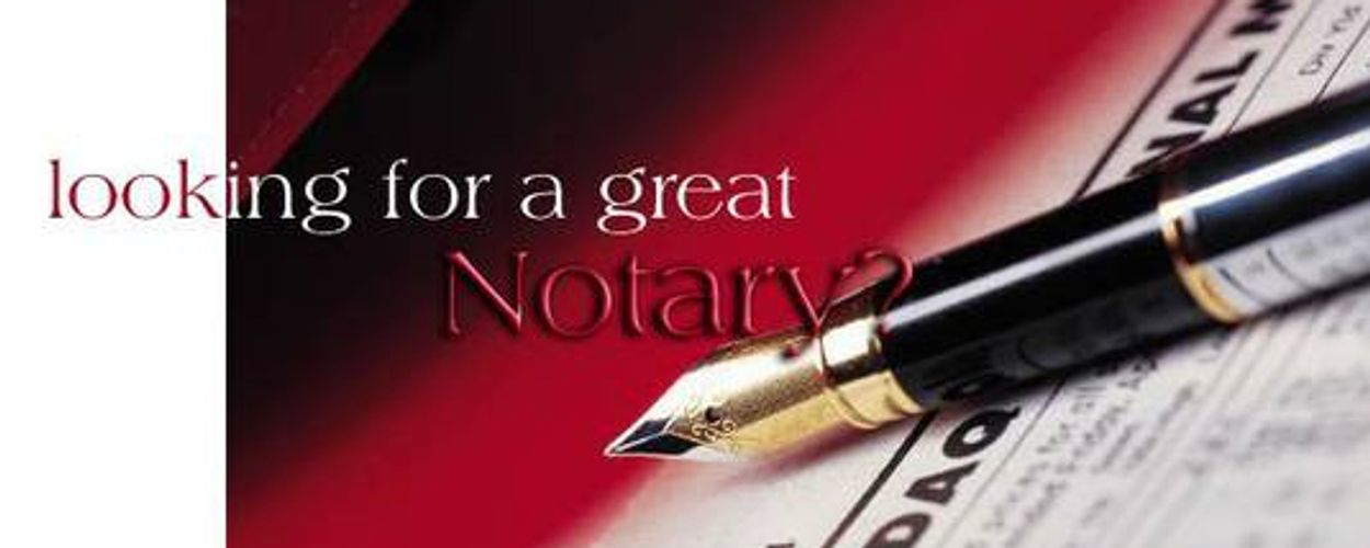 Document to be notarized with a pen for signing